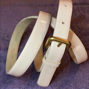 Jcrew beige patent belt.